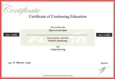 Certificaat 'continuing education'