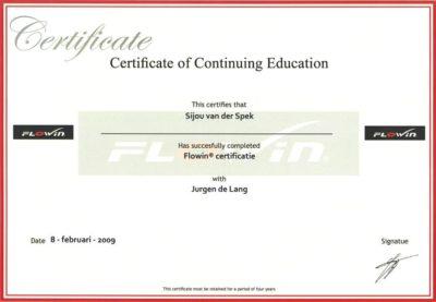 Certificaat 'continuing education'