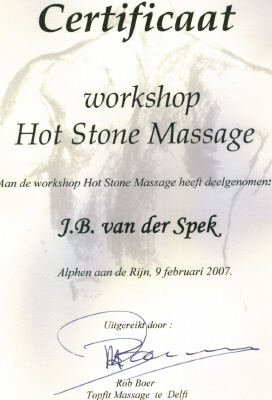 Certificaat Hot Stone Massage