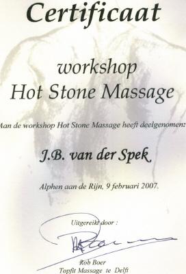 Certificaat Hot Stone Massage