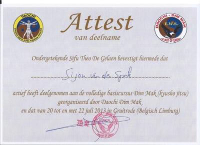 Certificaat DIMMAK