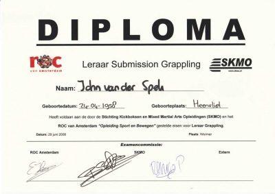 Diploma Leraar Submission Grappling