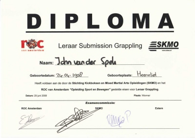 Diploma Leraar Submission Grappling