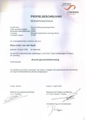 Diploma docent gevaarsbeheersing (CIOS)