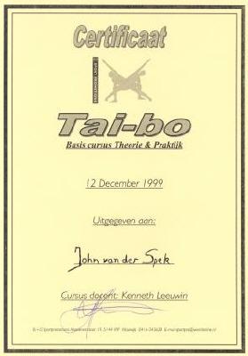 Certificaat Tai-Bo