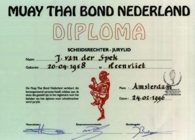 Referee & Judge certificate, MTBN