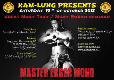 Seminar Master Ekger Mono - 19 oktober 2013